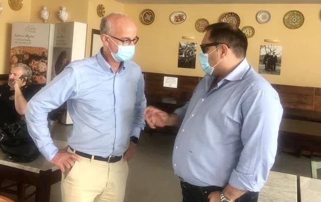 Il virologo Pierluigi Lopalco e il sindaco Rinaldo Melucci