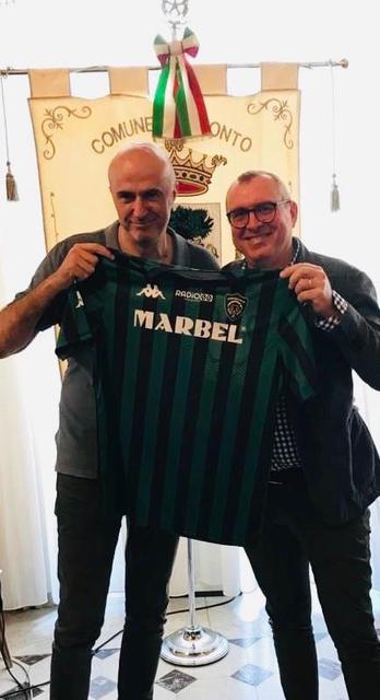 Il sindaco Michele Abaticchio (sx) e il presidente Francesco Rossiello
