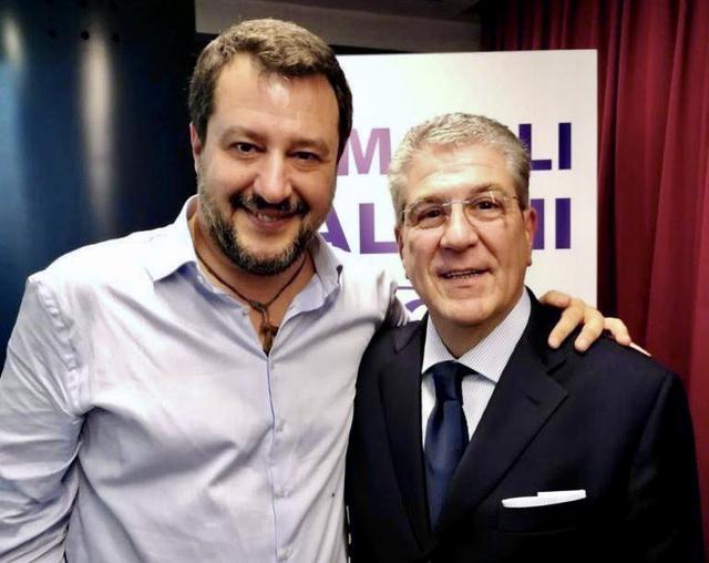 Matteo Salvini con lonorevole Gianfranco Chiarelli
