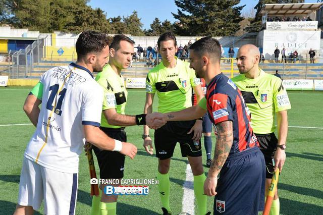Dario Madonia in Gravina-Taranto con i due capitani