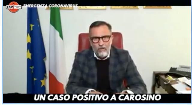 Il sindaco di Carosino Onofrio Di Cillo