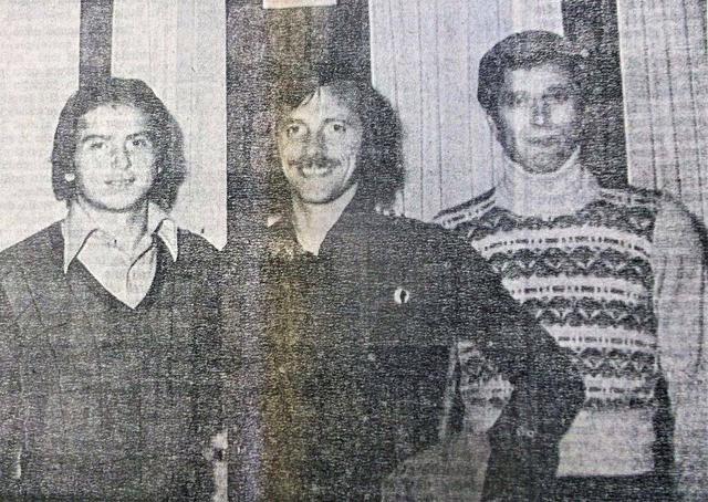 Ottobre 1974: i veterani Romanzini e Aristei, accolgono a Taranto un giovanissimo Franco Selvaggi