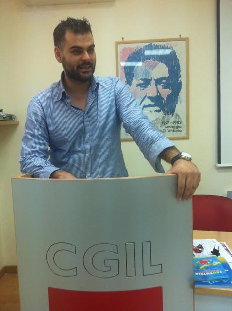 Giordano Fumarola, segretario generale della Filctem Cgil Taranto