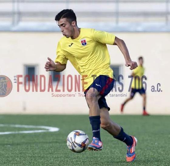 Alessio Giannotta, 22 anni, ex calciatore del Taranto