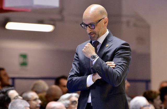 Frank Vitucci, allenatore della Happy Casa Brindisi - Foto Happy Casa Brindisi
