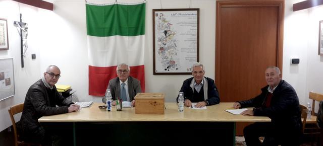 Da sinistra: Achille DAccavio, Giovanni Sanseverino, Pietro Barulli e Vincenzo Fiorenti