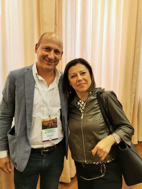 Gianni Azzaro, consigliere comunale e provinciale del PD, col ministro Paola De Micheli
