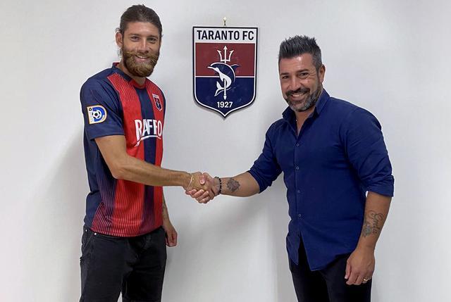Marco Caldore con il ds Francesco Montervino