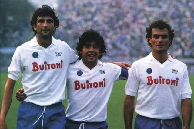 Da sinistra: Marino, Maradona, Bruscolotti