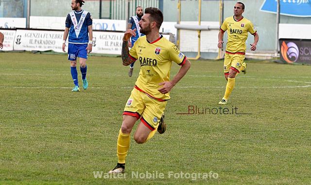 Peppe Genchi, attaccante del Taranto - Foto Walter Nobile