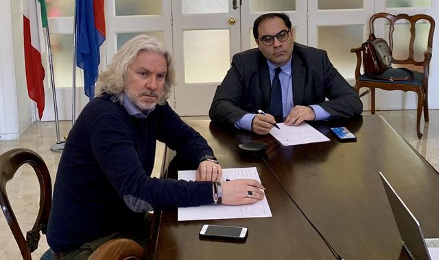Fabiano Marti, assessore allo sport, e il sindaco Rinaldo Melucci