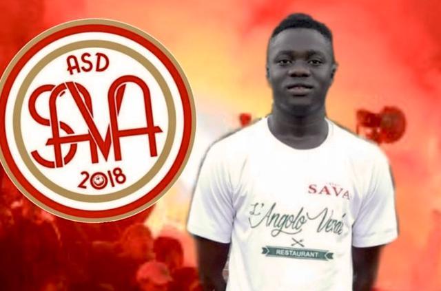 Il senegalese Diadji Kandji, protagonista della vittoria biancorossa