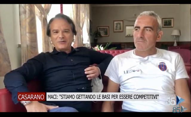 Il presidente Giampiero Maci con lallenatore Vincenzo Feola