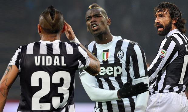 Fonte: Twitter, Arturo Vidal, Paul Pogba, Andrea Pirlo, Juventus.