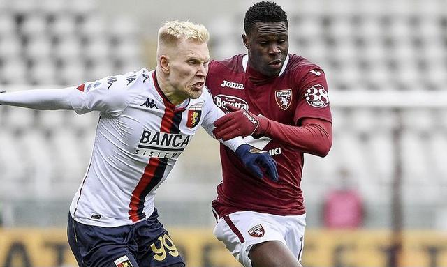 Un'azione di gioco di Torino-Genoa 0-0 (Profilo social Torino)