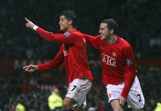 O'Shea e Cristiano Ronaldo nel Manchester United - Sportbible