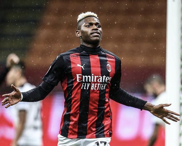 Rafael Leao esulta in Milan-Spezia 3-0 (Profilo social AC Milan)