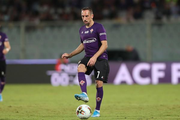 Franck Ribery, protagonista della sfida amichevole contro la Lucchese (ph Zimbio)