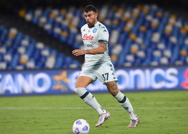 Andrea Petagna in azione in Napoli-Pescara 4-0 (Twitter SSC Napoli)