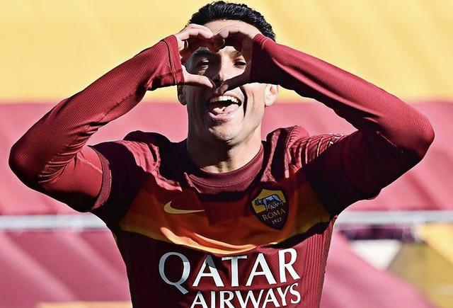 Pedro Rodriguez esulta in Roma-Udinese 3-0 (Profilo social Roma)
