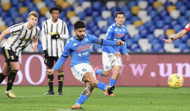 Lorenzo Insigne vs Juventus (Profilo social SSC Napoli)