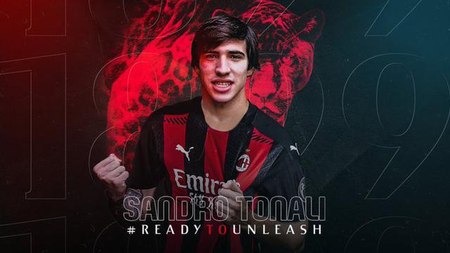 Sandro Tonali (Ph. Twitter)