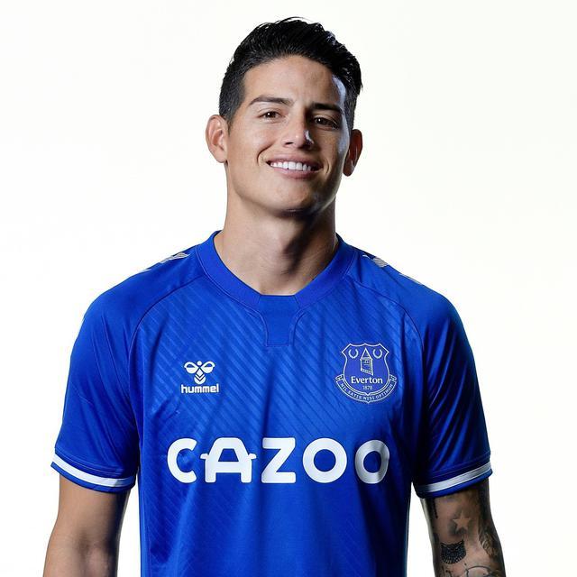 James Rodriguez all'Everton (ph social Everton)