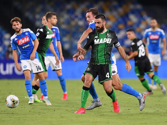 Napoli-Sassuolo 2-0 (ph. Twitter)