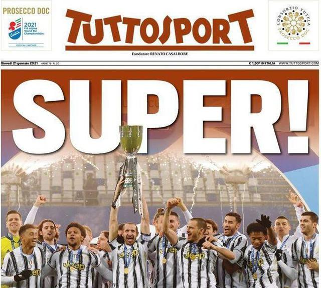Tuttosport prima pagina (ritaglio)