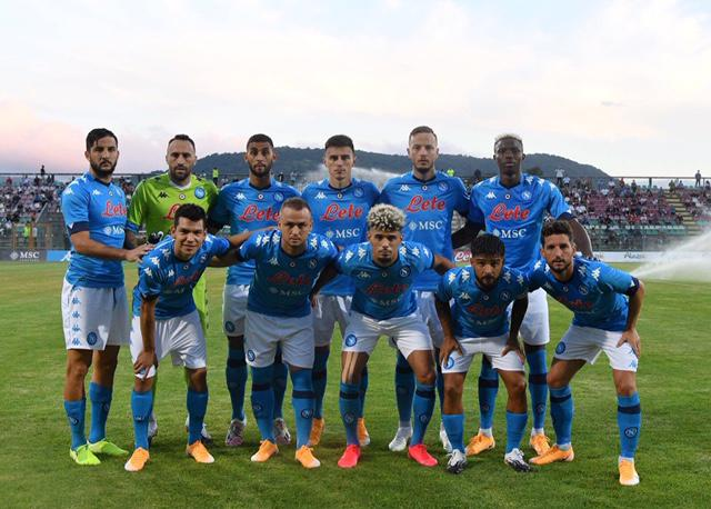 La formazione del Napoli protagonista contro il Castel di Sangro (Twitter Napoli)