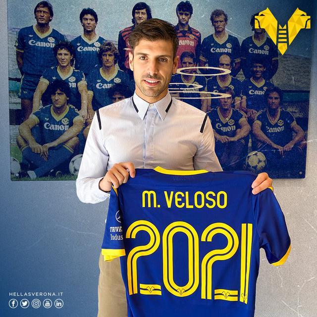Miguel Veloso, Verona (Ph. Twitter Hellas)