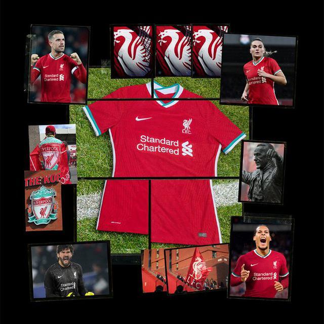 La nuova maglia del Liverpool (Ph. Twitter)