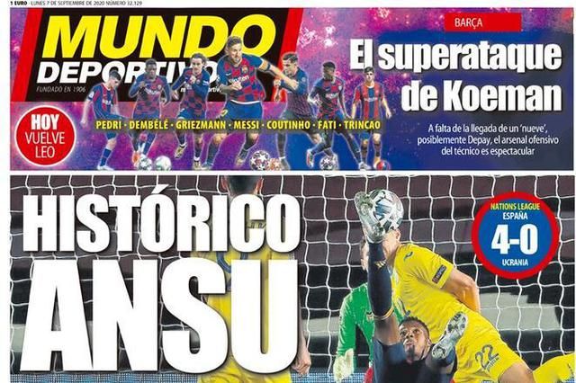 Mundo Deportivo (ritaglio)