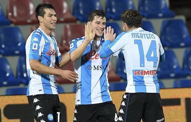 I ragazzi di Gattuso esultano in Crotone-Napoli 0-4 (Profilo social Napoli)