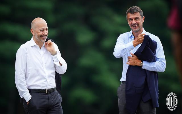 Ivan Gazidis e Paolo Maldini (Ph. Twitter)
