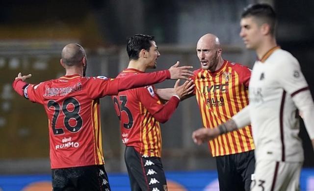 Benevento-Roma 0-0 (Profilo social Benevento)