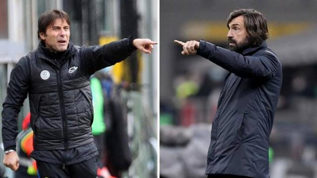 Antonio Conte e Andrea Pirlo (Ph. Twitter)