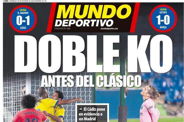 Mundo Deportivo prima pagina (ritaglio)