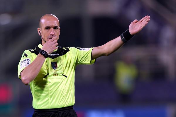 Michael Fabbri arbitro di Lazio-Fiorentina (ph. zimbio)