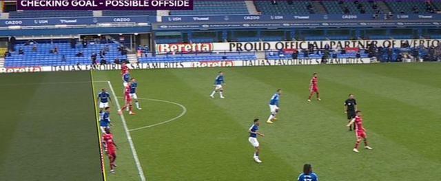 Everton Liverpool fuorigioco (Web)