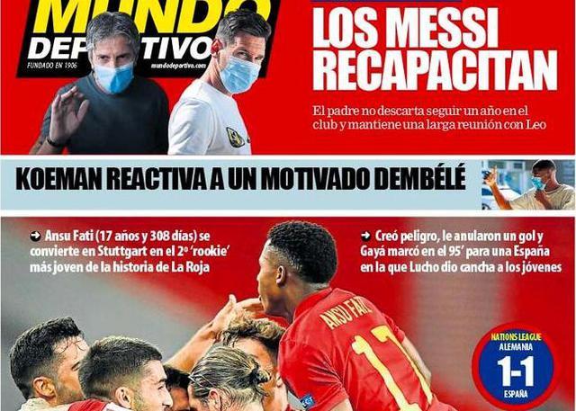 Mundo Deportivo (Prima pagina via web)