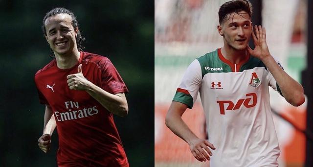 Diego Laxalt e Aleksey Miranchuk, protagonisti di un possibile scambio di mercato tra Milan e Lokomotiv Mosca (Collage from social of players)
