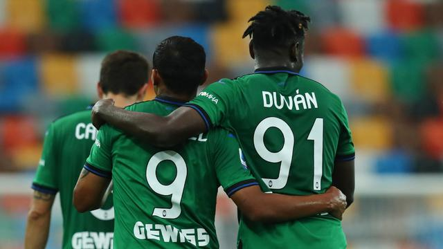 Luis Muriel e Duvan Zapata (ph. Twitter Atalanta B.C. Official)