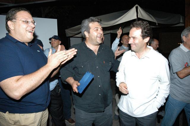Marco Panichi con Guerrino Filippone e Giacomo Giovannetti