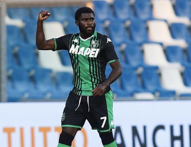 Jeremie Boga con la maglia del Sassuolo (Profilo social giocatore)