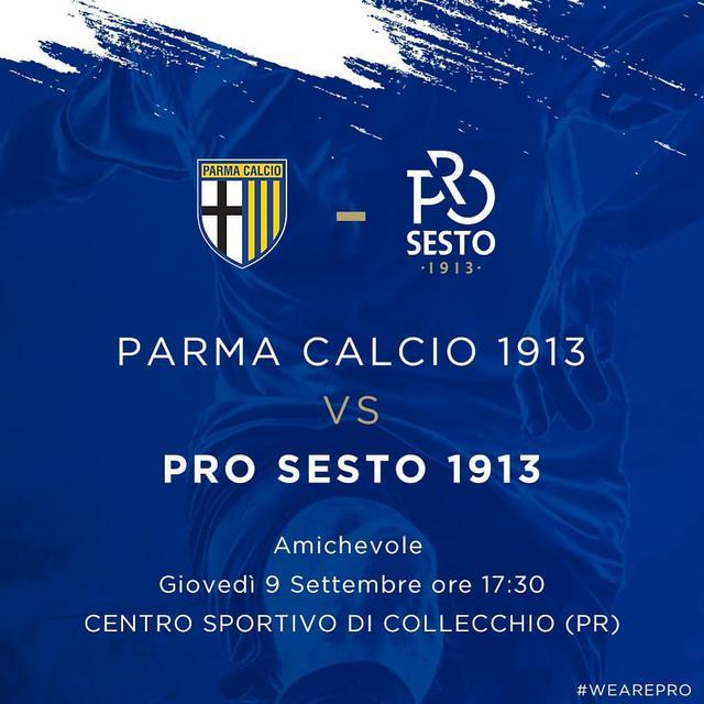 Dove vedere amichevole Parma-Pro Sesto, streaming gratis e diretta tv