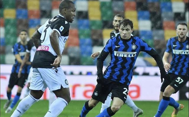 Un'azione di gioco di Udinese-Inter 0-0 (Profilo social Udinese)