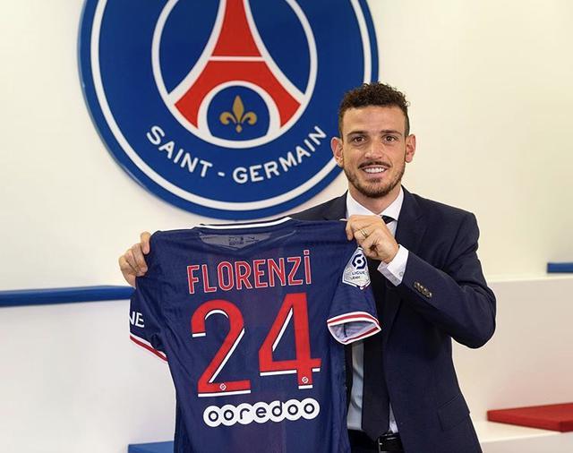 Alessandro Florenzi con la maglia del PSG (Profilo social club parigino)