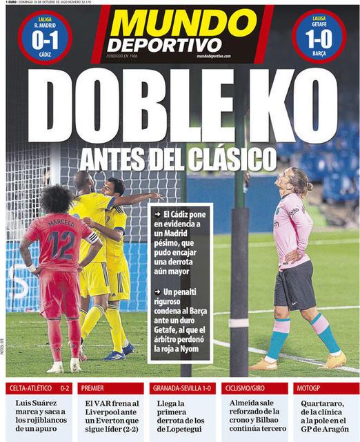 Mundo Deportivo prima pagina