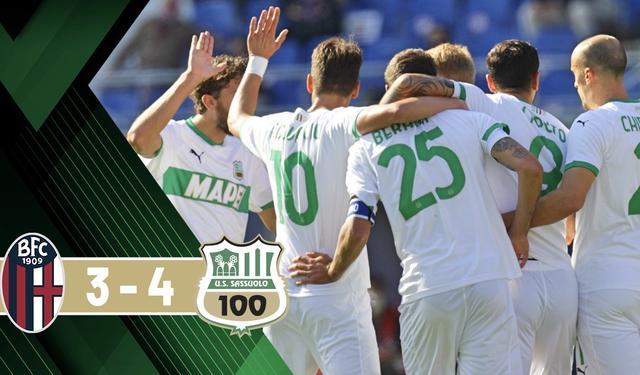 Il Sassuolo batte il Bologna 3-4 al Dall'Ara (Profilo social Sassuolo)